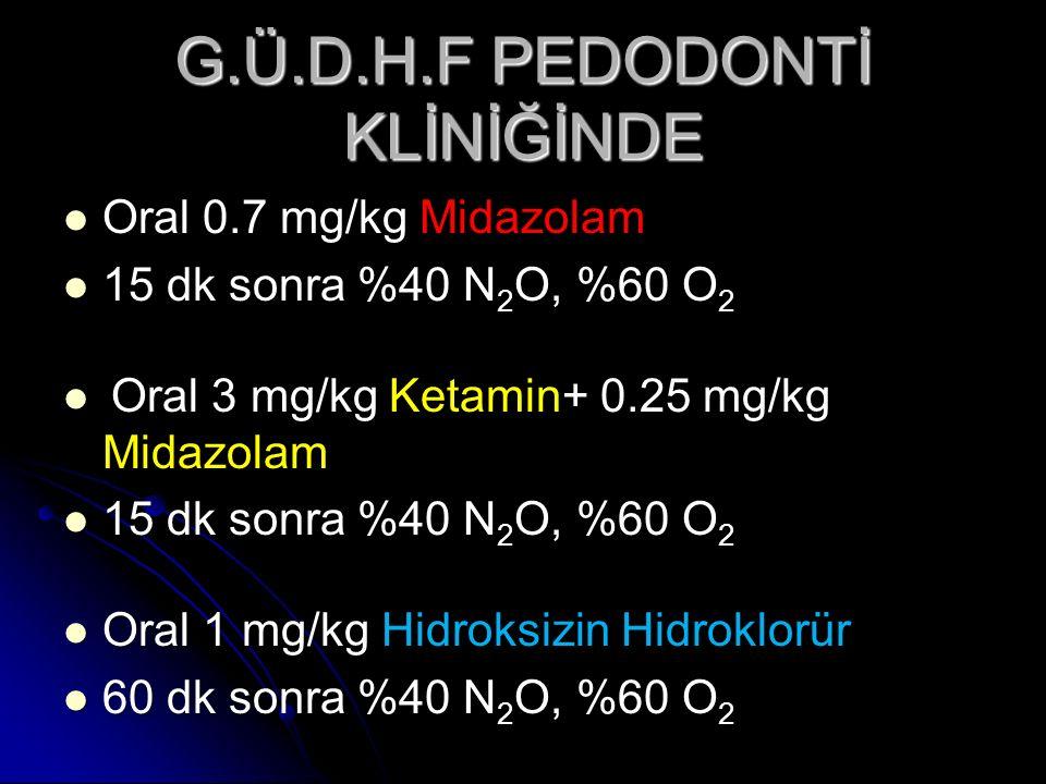 G.Ü.D.H.F PEDODONTİ KLİNİĞİNDE