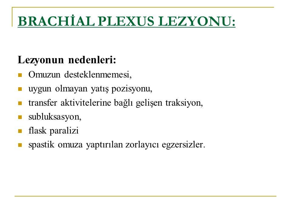 BRACHİAL PLEXUS LEZYONU: