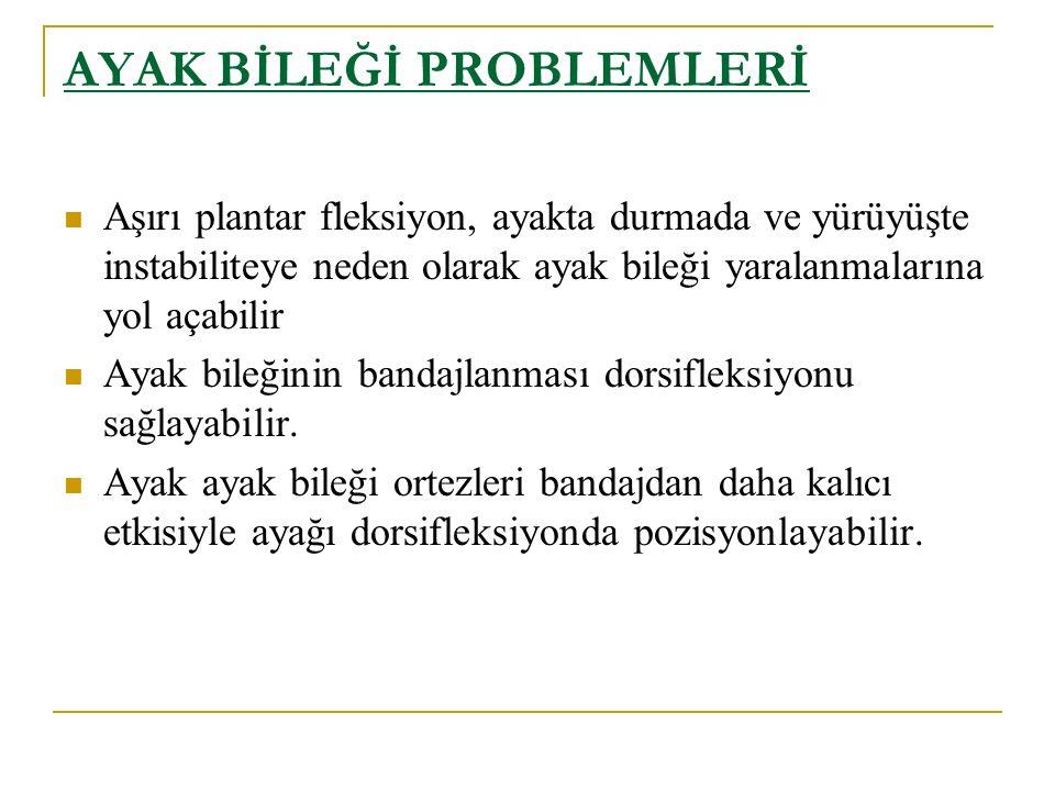 AYAK BİLEĞİ PROBLEMLERİ