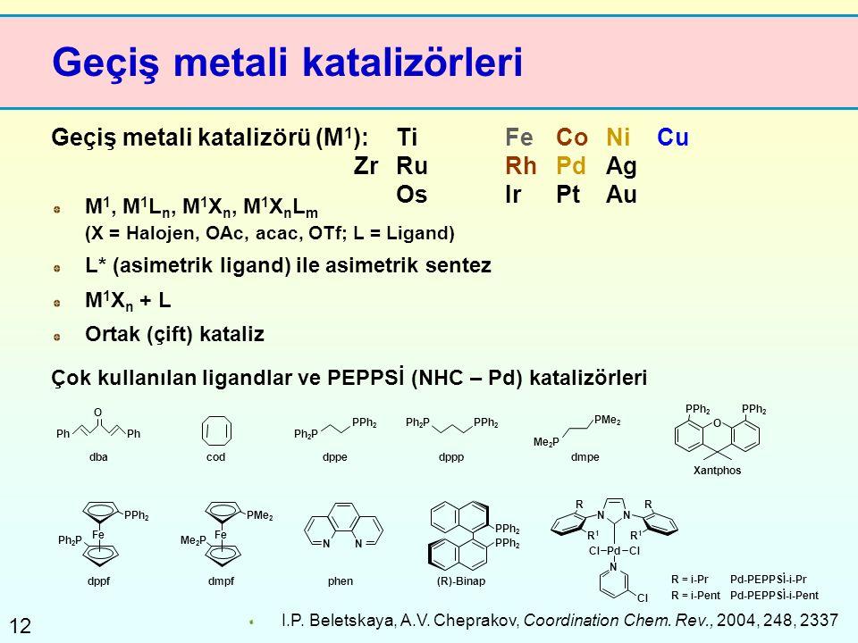 Geçiş metali katalizörleri