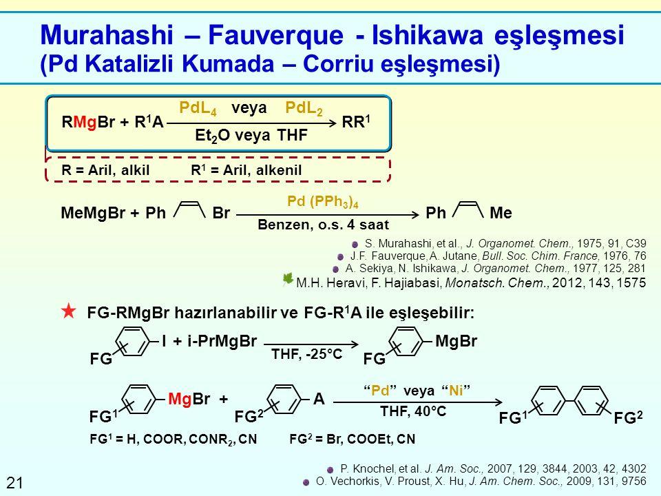 Murahashi – Fauverque - Ishikawa eşleşmesi (Pd Katalizli Kumada – Corriu eşleşmesi)