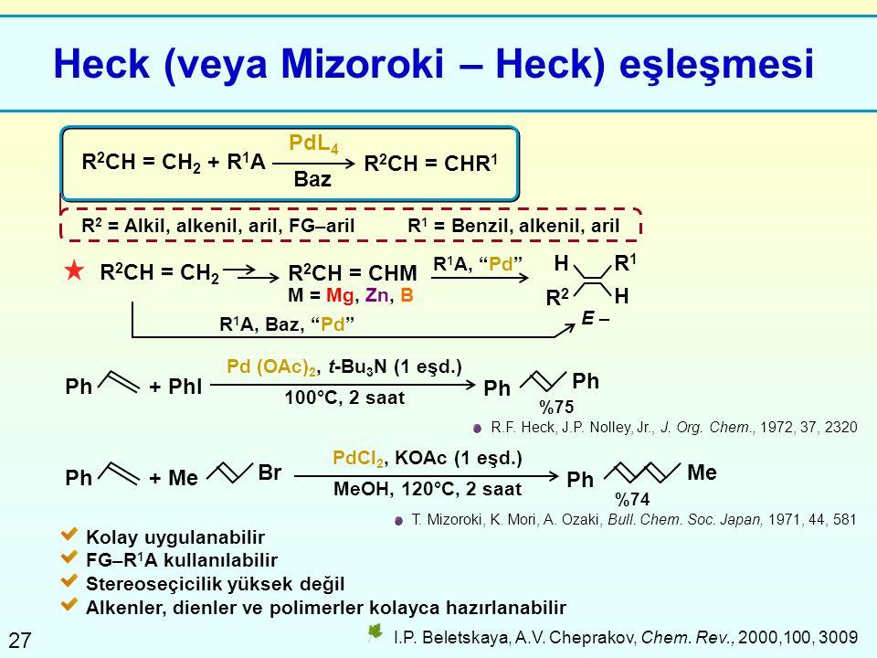 Heck (veya Mizoroki – Heck) eşleşmesi