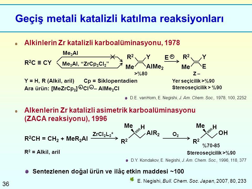Geçiş metali katalizli katılma reaksiyonları