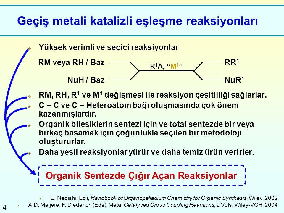 Geçiş metali katalizli eşleşme reaksiyonları