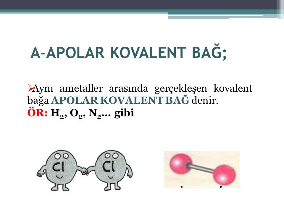 A-APOLAR KOVALENT BAĞ;
