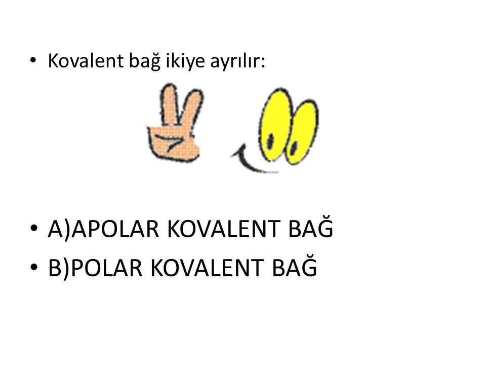 Kovalent bağ ikiye ayrılır: