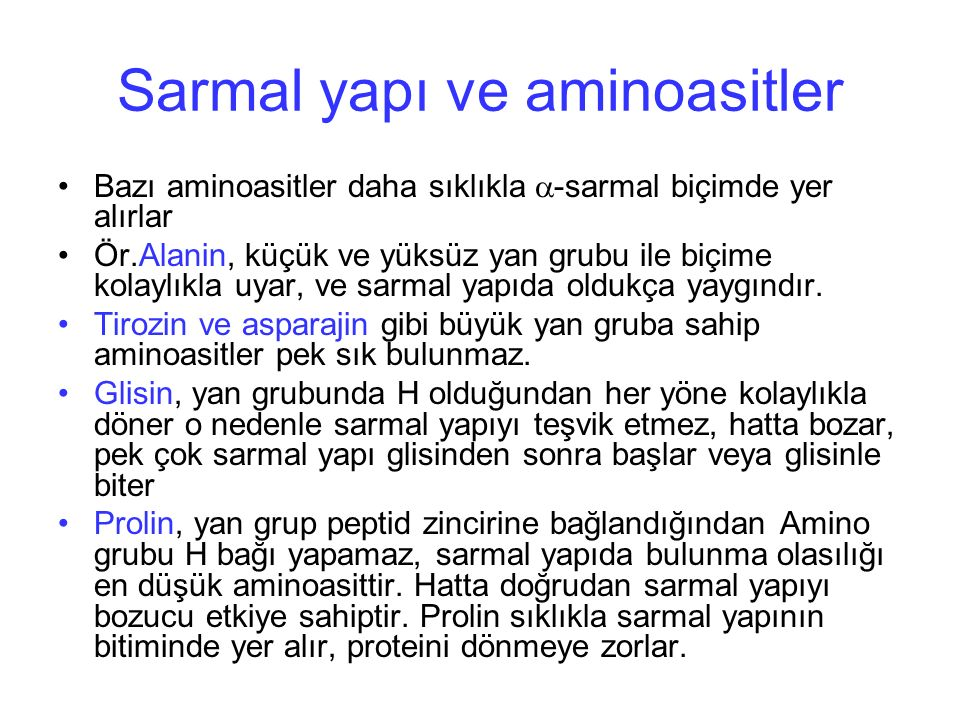 Sarmal yapı ve aminoasitler