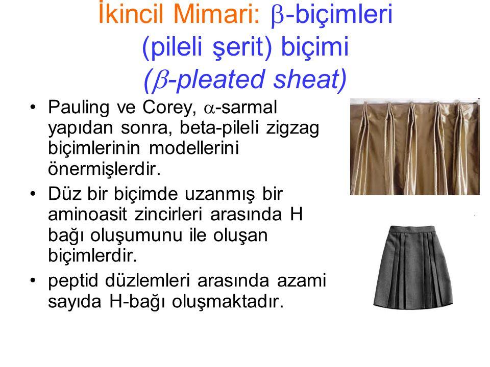 İkincil Mimari: -biçimleri (pileli şerit) biçimi (-pleated sheat)