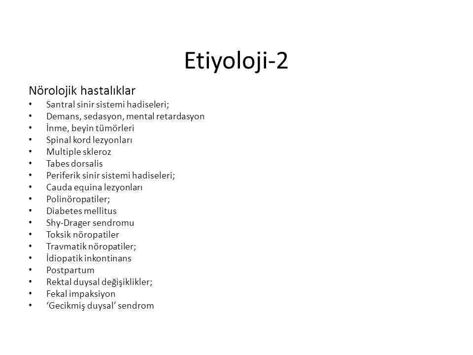 Etiyoloji-2 Nörolojik hastalıklar Santral sinir sistemi hadiseleri;