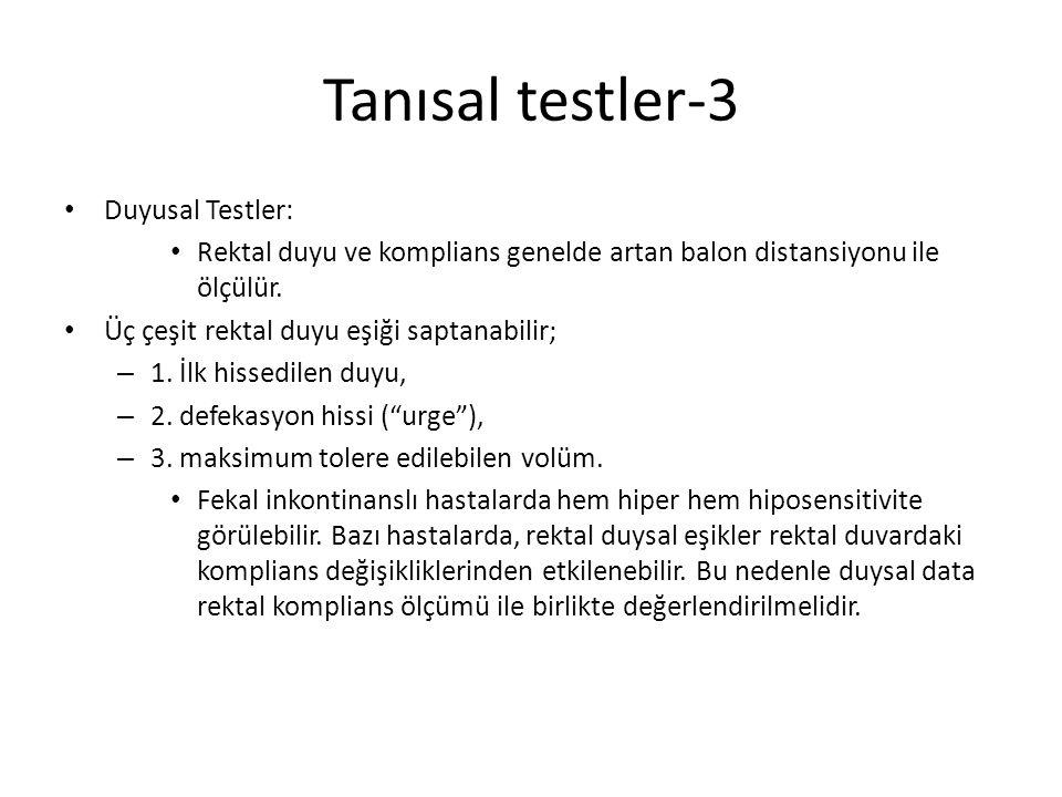 Tanısal testler-3 Duyusal Testler: