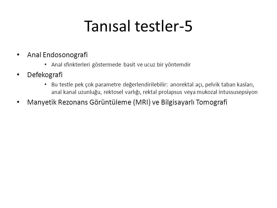Tanısal testler-5 Anal Endosonografi Defekografi