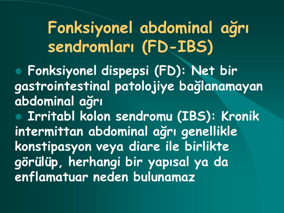 Fonksiyonel abdominal ağrı sendromları (FD-IBS)