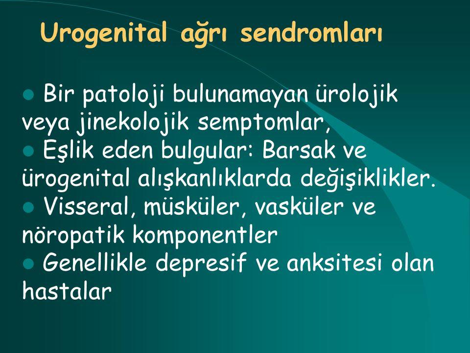 Urogenital ağrı sendromları
