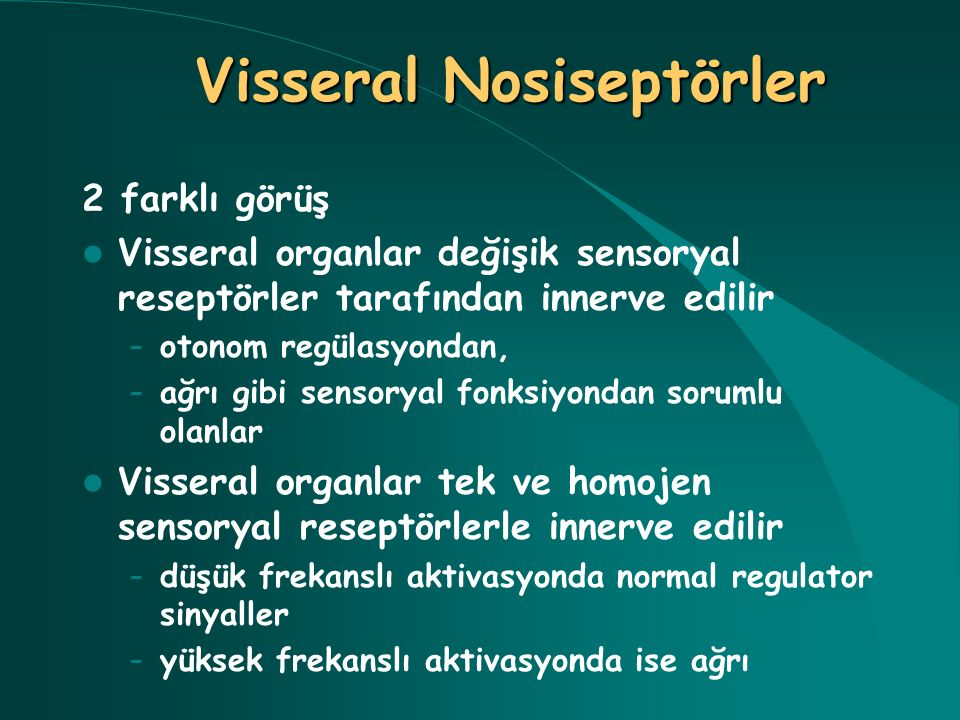 Visseral Nosiseptörler