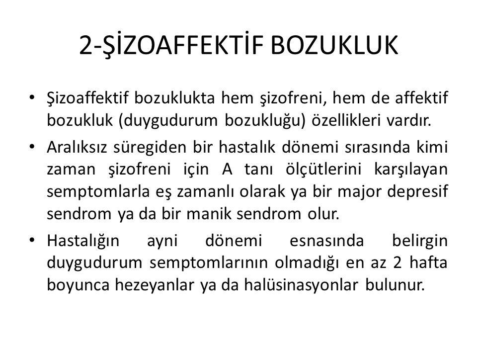 2-ŞİZOAFFEKTİF BOZUKLUK