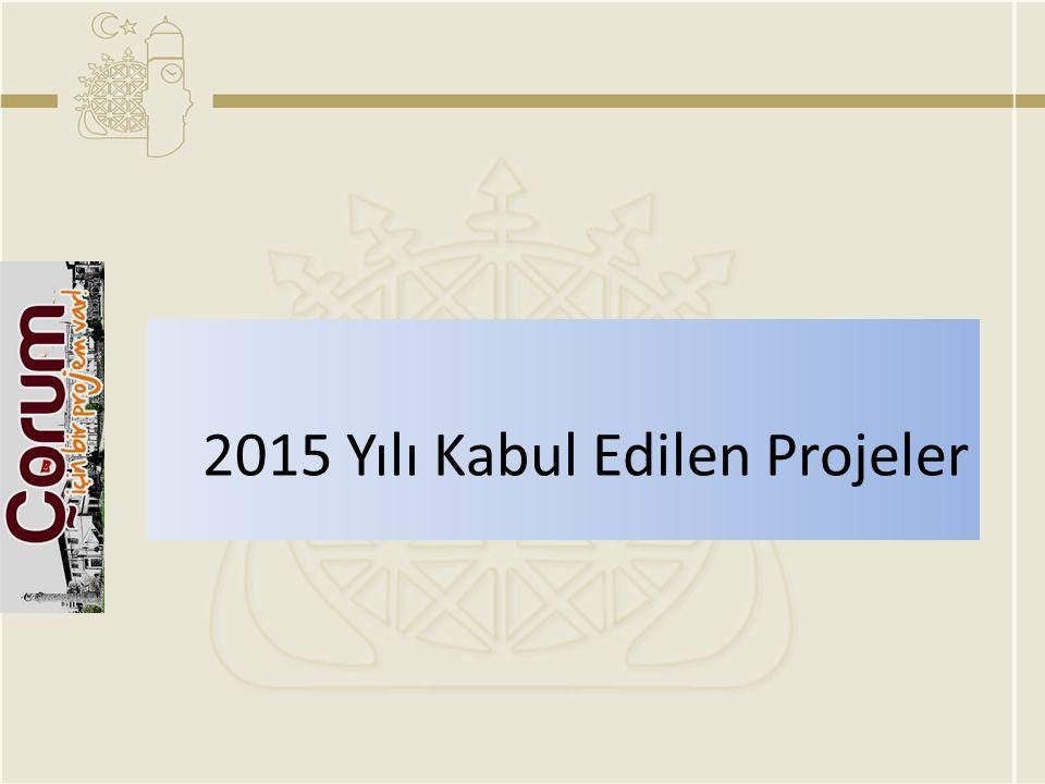 2015 Yılı Kabul Edilen Projeler