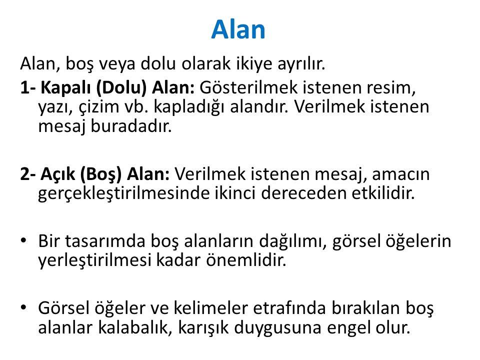 Alan Alan, boş veya dolu olarak ikiye ayrılır.