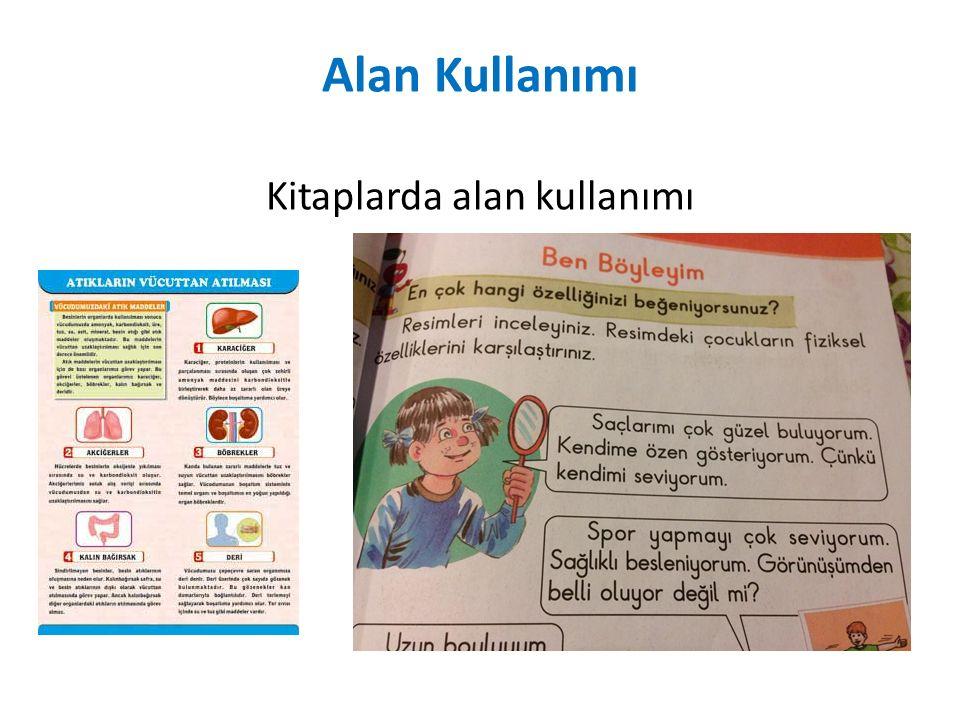 Alan Kullanımı Kitaplarda alan kullanımı