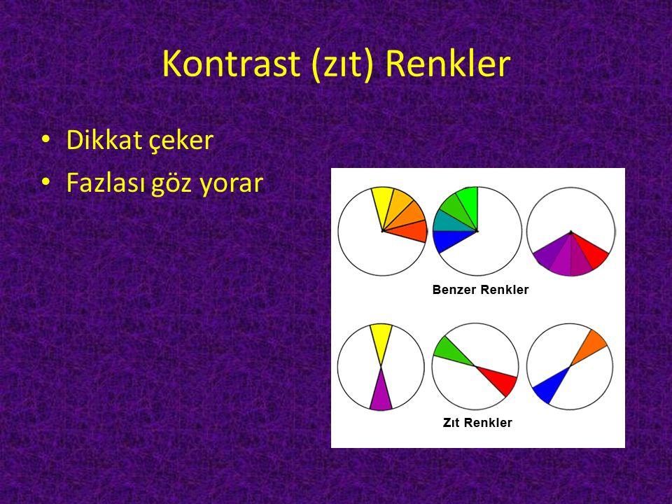 Kontrast (zıt) Renkler