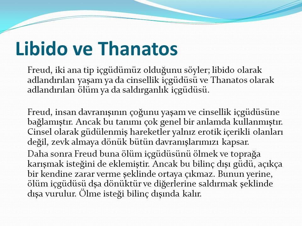 Libido ve Thanatos