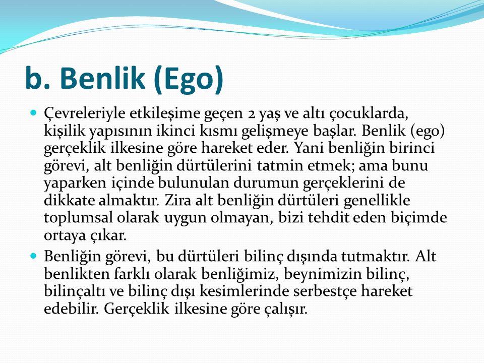 b. Benlik (Ego)