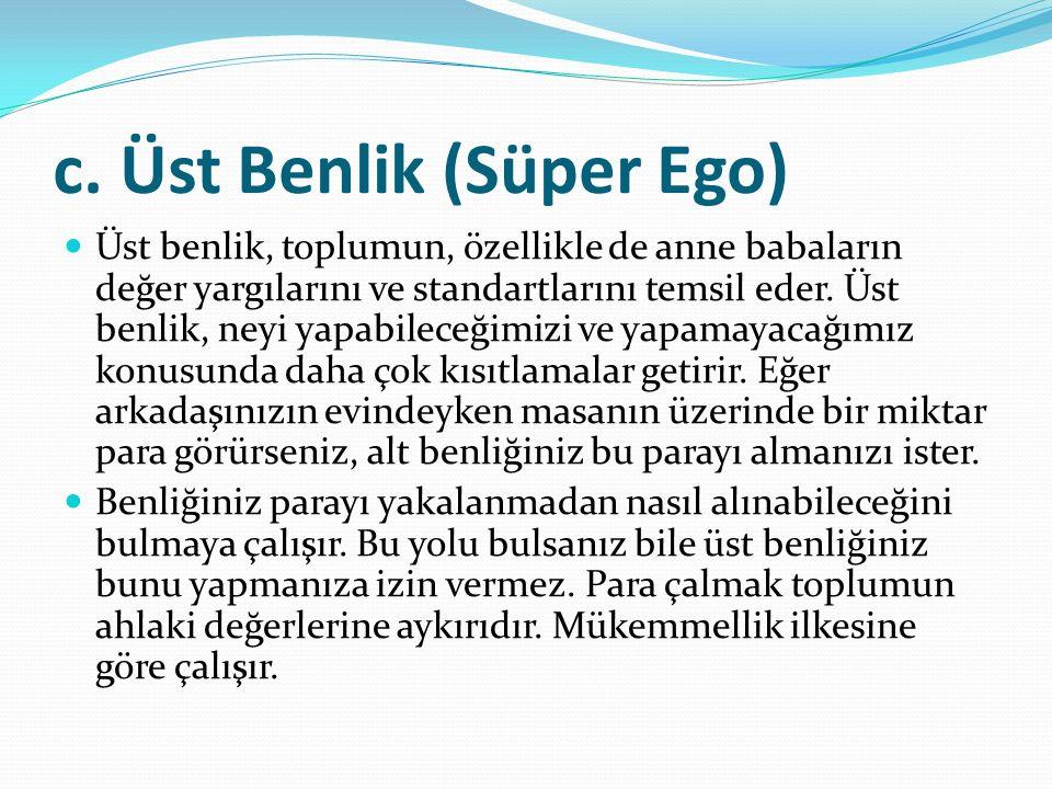 c. Üst Benlik (Süper Ego)