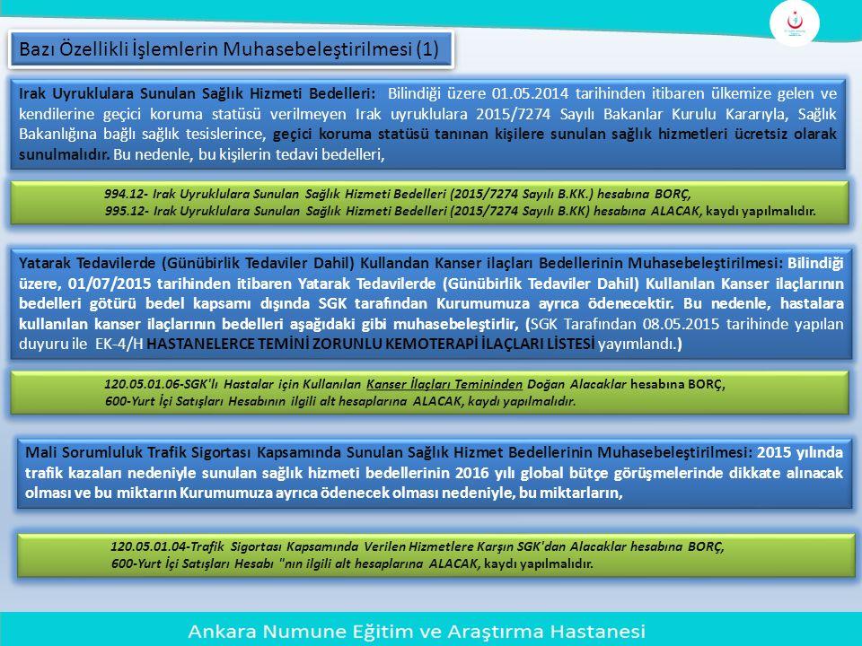Bazı Özellikli İşlemlerin Muhasebeleştirilmesi (1)