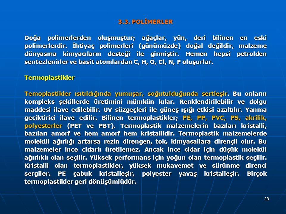 3.3. POLİMERLER