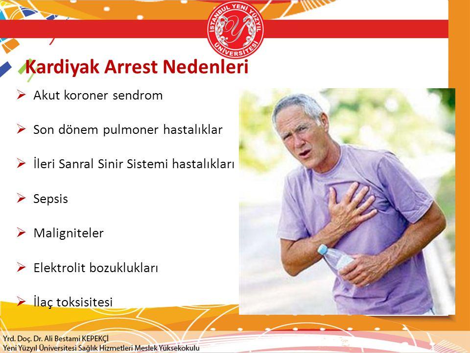 Kardiyak Arrest Nedenleri