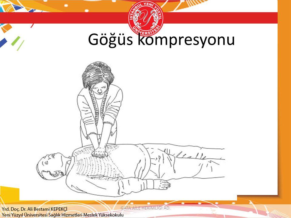 Göğüs kompresyonu GATA AİLE HEKİMLİĞİ AD.