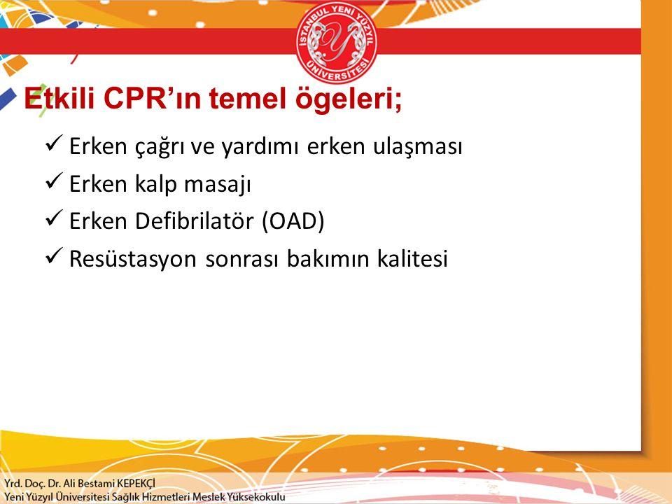 Etkili CPR'ın temel ögeleri;
