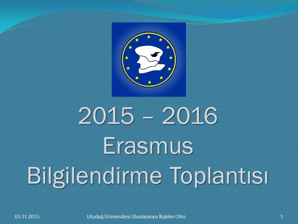 2015 – 2016 Erasmus Bilgilendirme Toplantısı