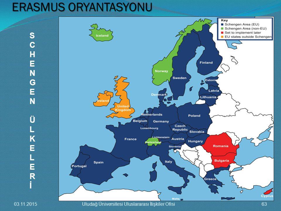 ERASMUS ORYANTASYONU S C H E N G Ü L K R İ 03.11.2015