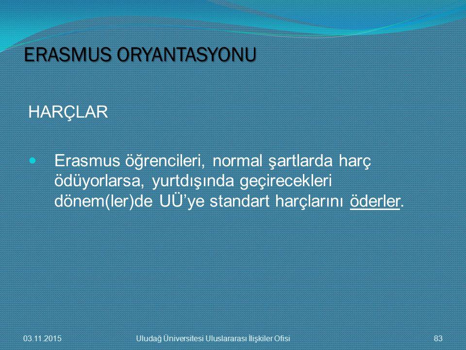 ERASMUS ORYANTASYONU HARÇLAR