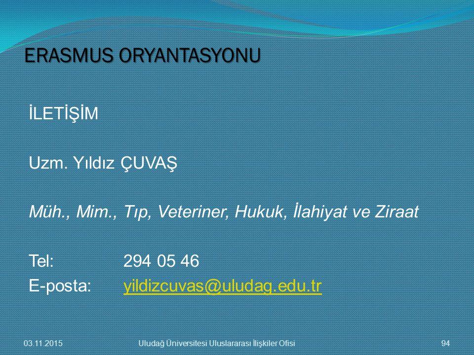 ERASMUS ORYANTASYONU