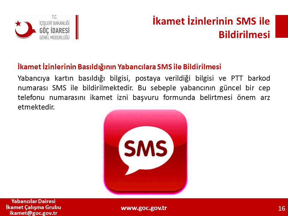 İkamet İzinlerinin SMS ile Bildirilmesi
