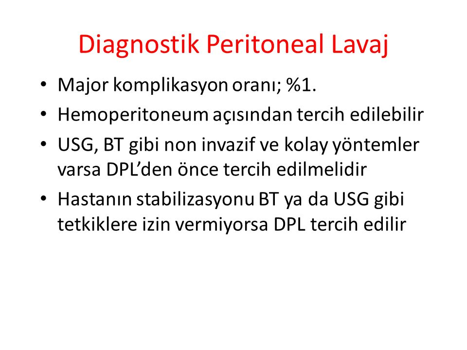 Diagnostik Peritoneal Lavaj
