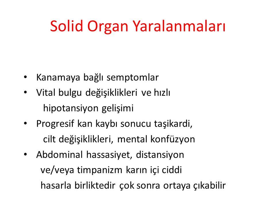 Solid Organ Yaralanmaları