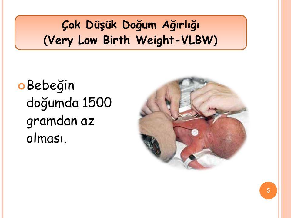 Çok Düşük Doğum Ağırlığı (Very Low Birth Weight-VLBW)