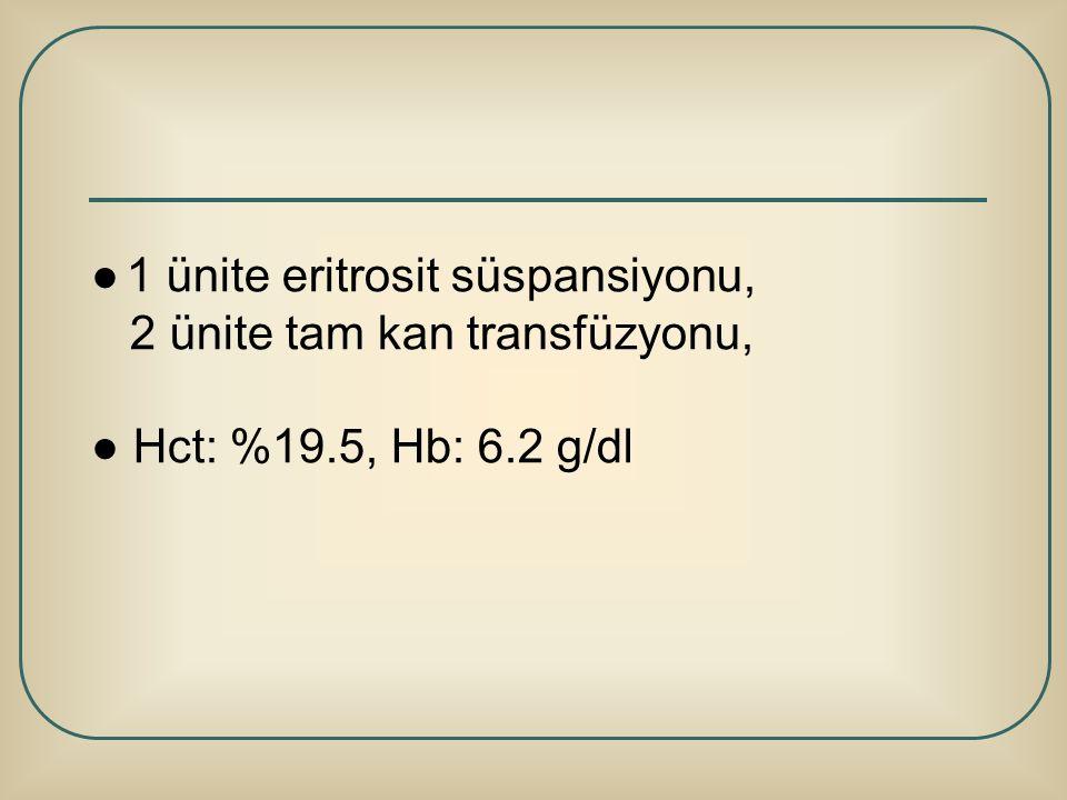 ● 1 ünite eritrosit süspansiyonu,