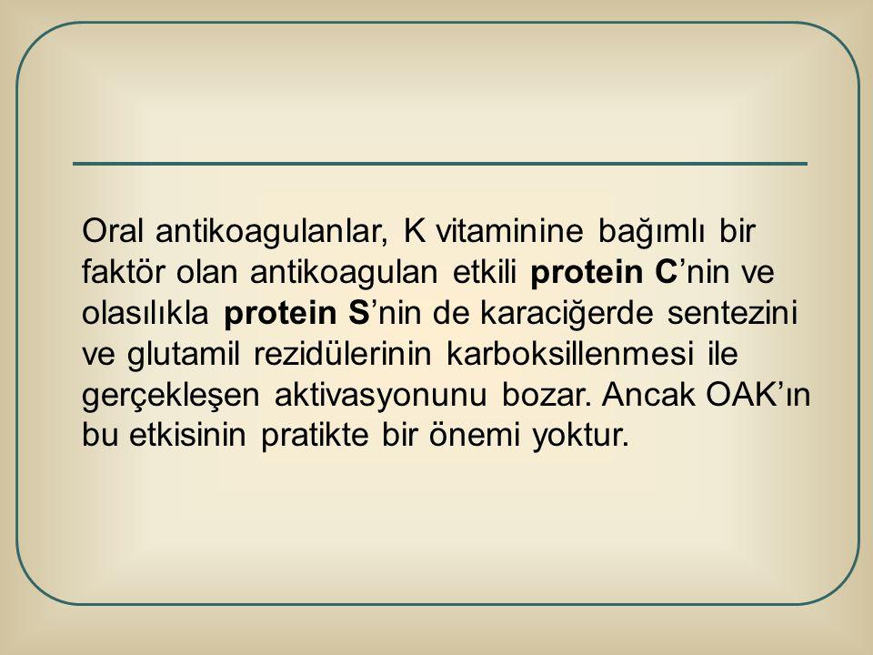 Oral antikoagulanlar, K vitaminine bağımlı bir