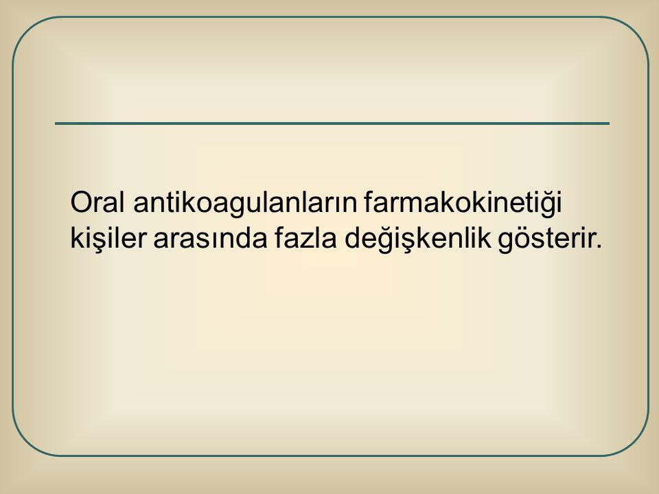 Oral antikoagulanların farmakokinetiği