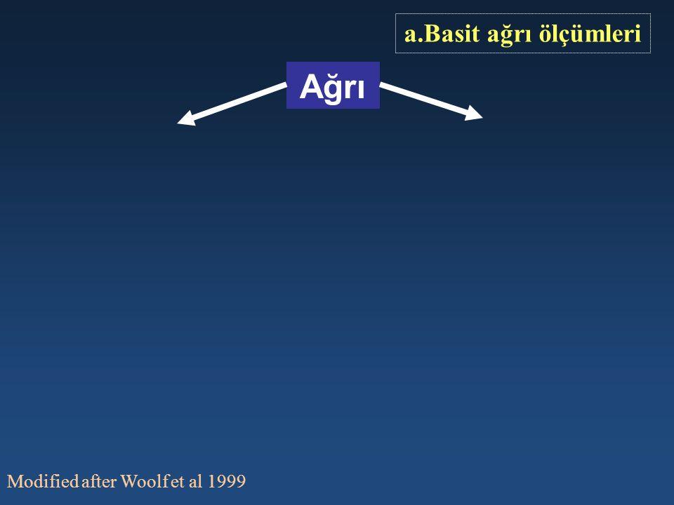 a.Basit ağrı ölçümleri Ağrı Modified after Woolf et al 1999