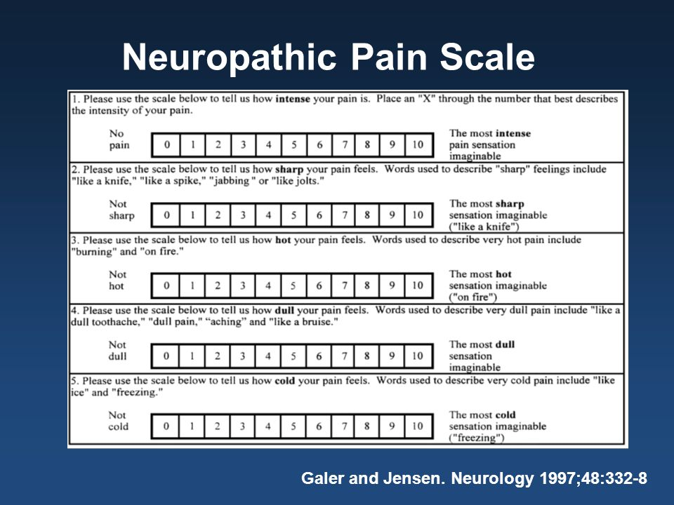 Neuropathic Pain Scale