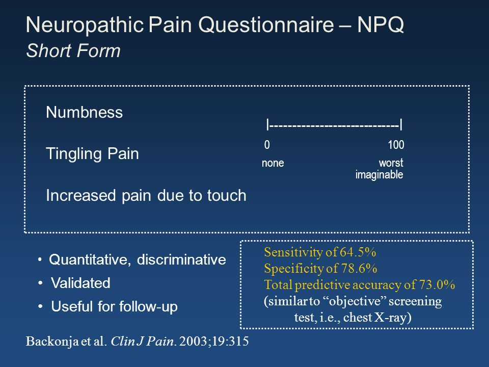 Neuropathic Pain Questionnaire – NPQ Short Form
