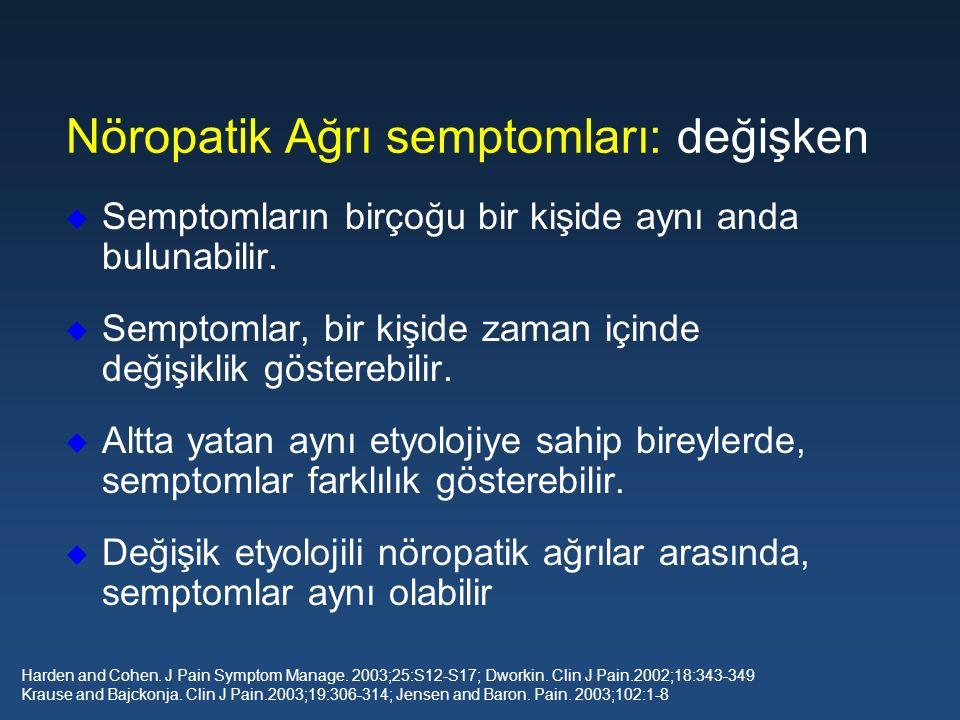 Nöropatik Ağrı semptomları: değişken