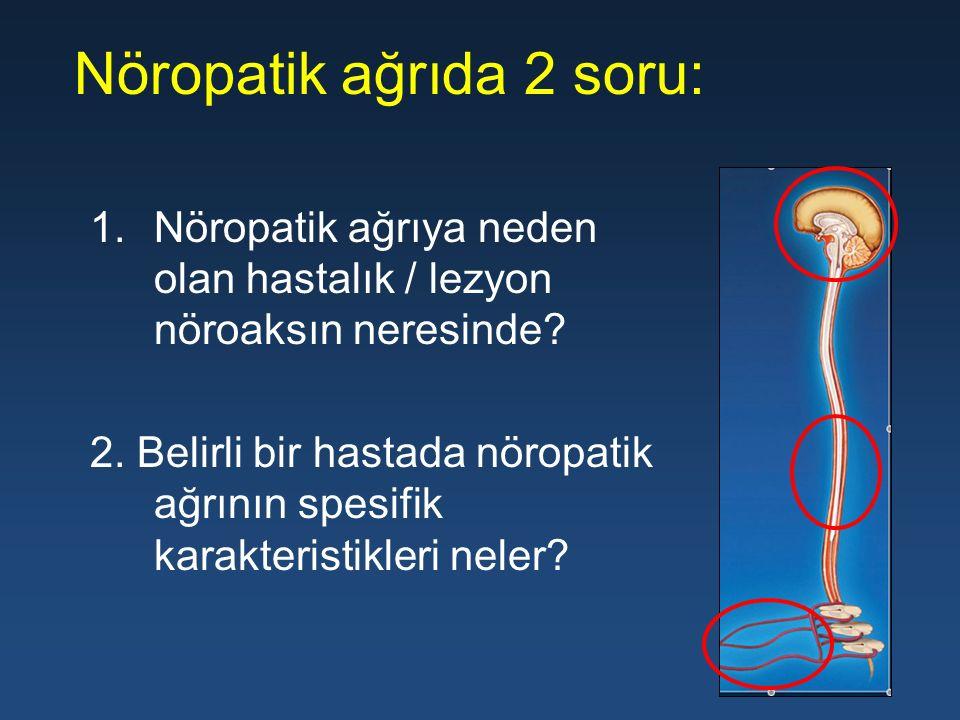 Nöropatik ağrıda 2 soru: