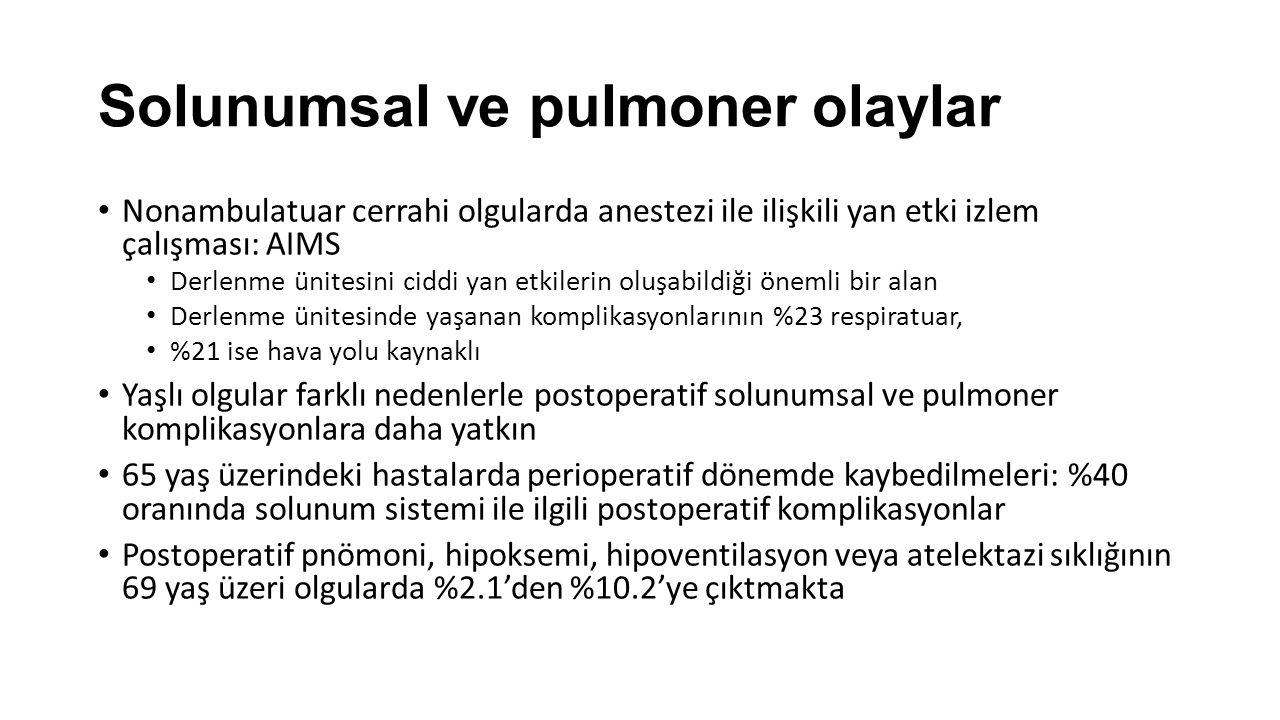 Solunumsal ve pulmoner olaylar