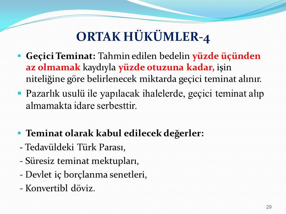 ORTAK HÜKÜMLER-4