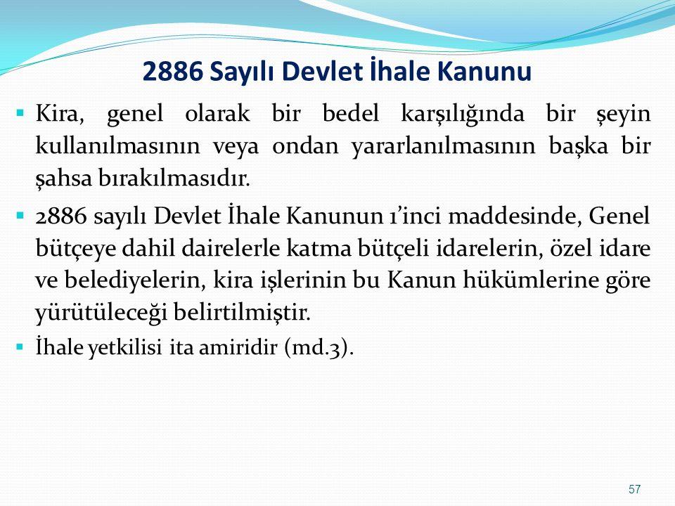 2886 Sayılı Devlet İhale Kanunu